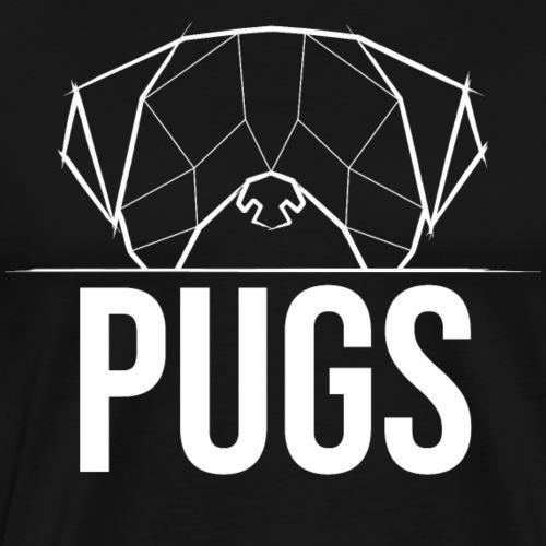 Pugs Mops Pugface Geometrical - weiß