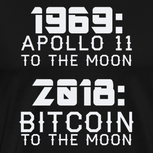 2018 Bitcoin to the Moon - Männer Premium T-Shirt