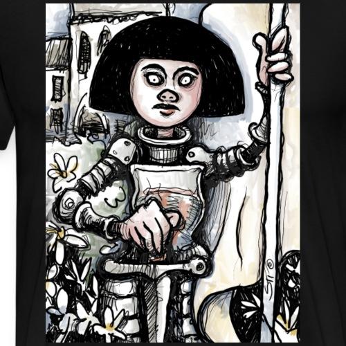 Joan of Arc - after Albert Lynch - Men's Premium T-Shirt