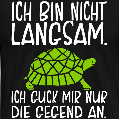Lustige Sport Sprüche Laufen Sport Langsam Läufer - Männer Premium T-Shirt