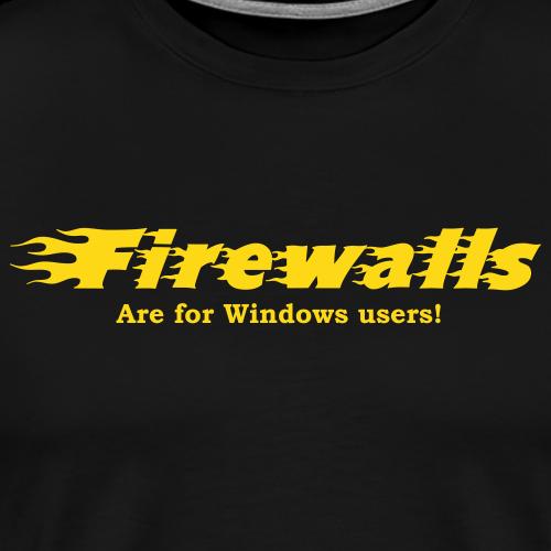 Firewalls - Premium-T-shirt herr