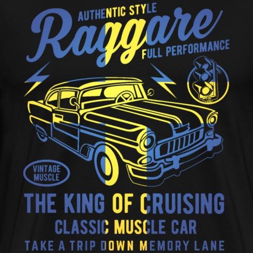 Raggare King of Cruising Schweden - Männer Premium T-Shirt