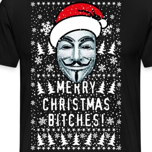 55 Anonymous Merry Christmas Bitches Schnee Winter - Männer Premium T-Shirt