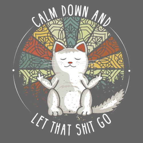 Katze Mittelfinger Stinkefinger Retro Spruch - Männer Premium T-Shirt