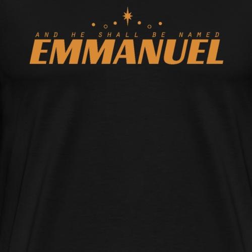 and he shall be named Emmanuel #3 - Männer Premium T-Shirt