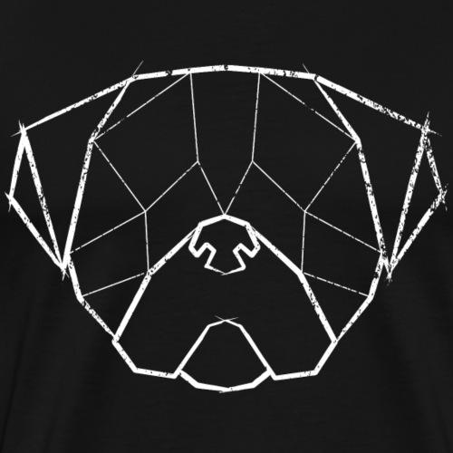 Pug Geometrical Face - Mops Kopf - Vintage weiß