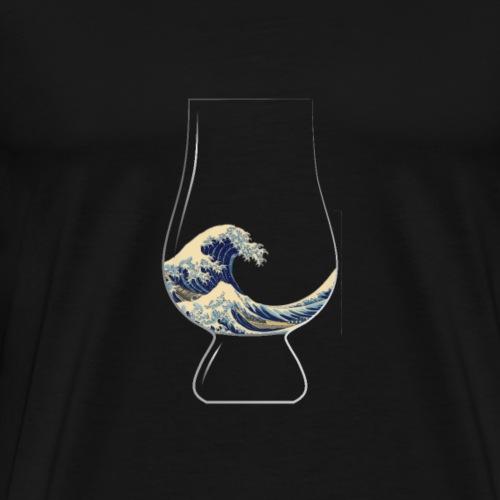 Kanagawa Glencairn Glass - Men's Premium T-Shirt