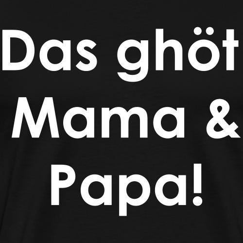 MamaPapa | White - Männer Premium T-Shirt