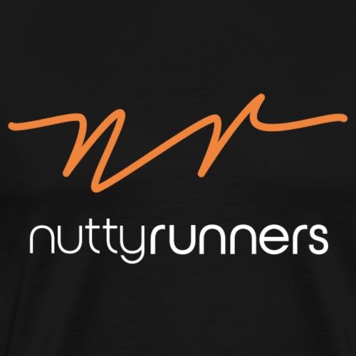 Nutty Runners - Orange and white logo - Men's Premium T-Shirt