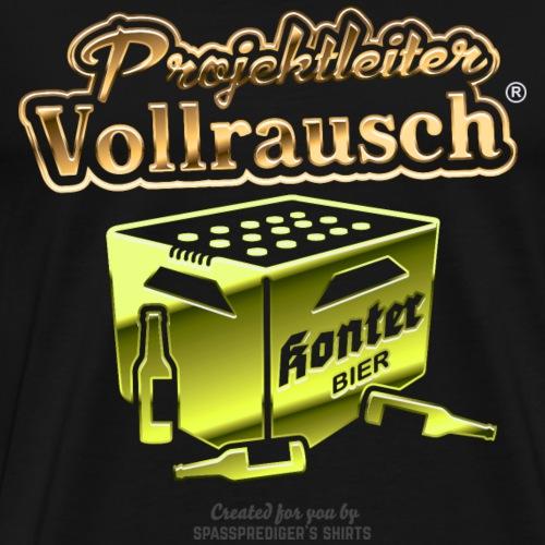 Projektleiter Vollrausch® grüngold - Männer Premium T-Shirt