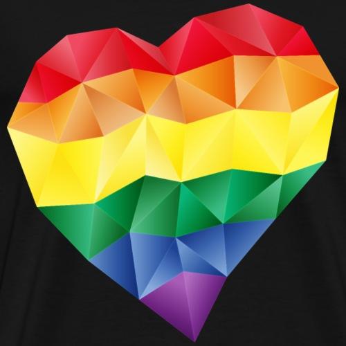 Regenbogen / Kristall Pride Herz