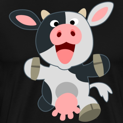 Cute Friendly Cartoon Cow by Cheerful Madness!! - Men's Premium T-Shirt