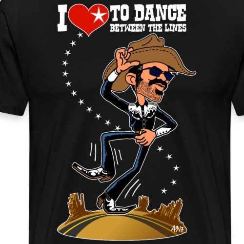 I love to dance between the lines - Mannen Premium T-shirt