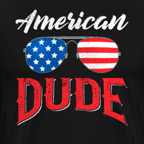 4th of July American Dude - Männer Premium T-Shirt