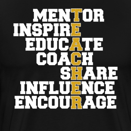Awesome Teacher Mentor Coach - Männer Premium T-Shirt