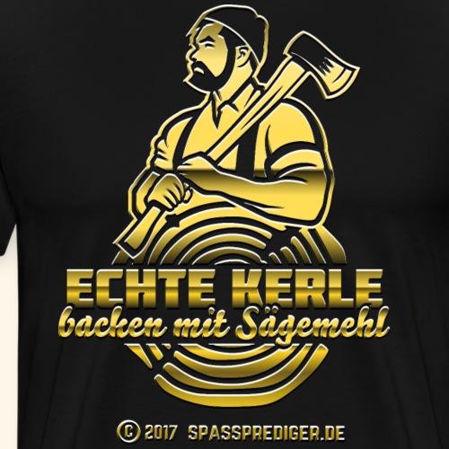Lustiges Holzfäller-Shirt Echte Kerle - Männer Premium T-Shirt