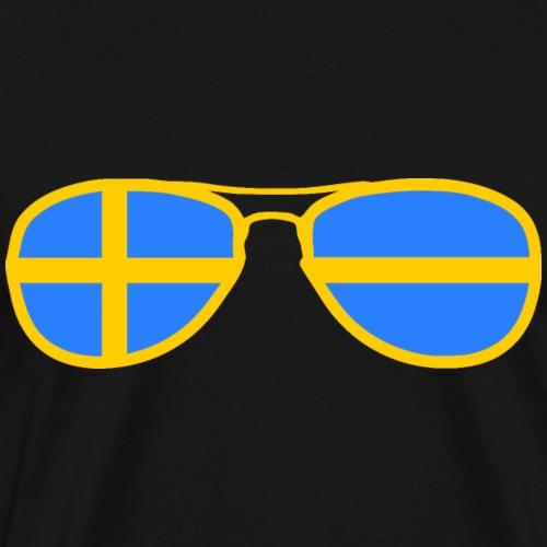 Sweden flag - glasses - Men's Premium T-Shirt