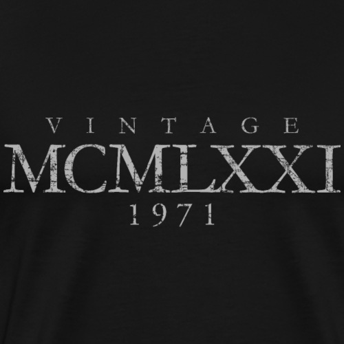 Vintage MCMLXXI 1971 (Grau) 50. Geburtstag - Männer Premium T-Shirt