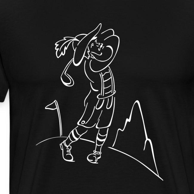 Tiroler Golfspieler Weiß