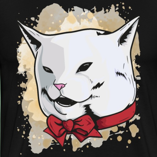 meme gato - Camiseta premium hombre