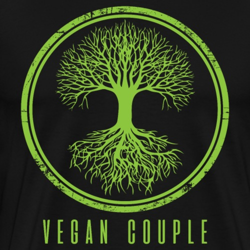 Green Vegan Couple - Camiseta premium hombre