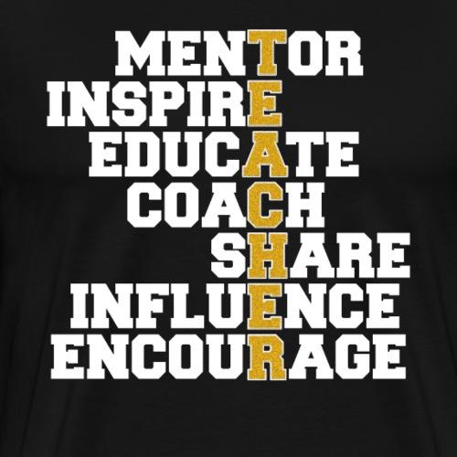 Awesome Teacher Mentor Coach - Männer Premium T-Shirt