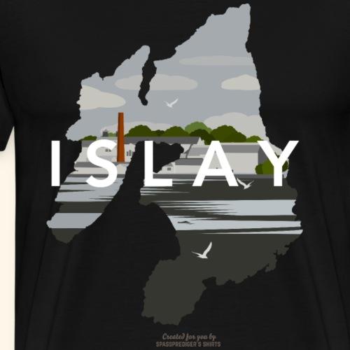 Islay Vintage Travel Poster - Männer Premium T-Shirt
