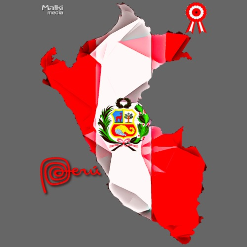 Mapa del Perú, Bandera y Escarapela - Camiseta premium hombre