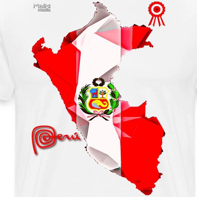 Mapa del Peru, Bandera y Escarapela