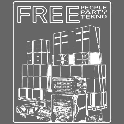 FREE PEOPLE FREE PARTY FREE TEKNO - Men's Premium T-Shirt