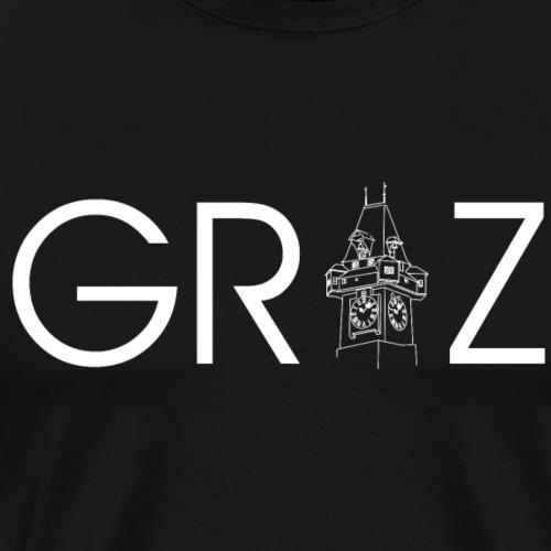 Graz mit Uhrturm - Steiermark - Männer Premium T-Shirt