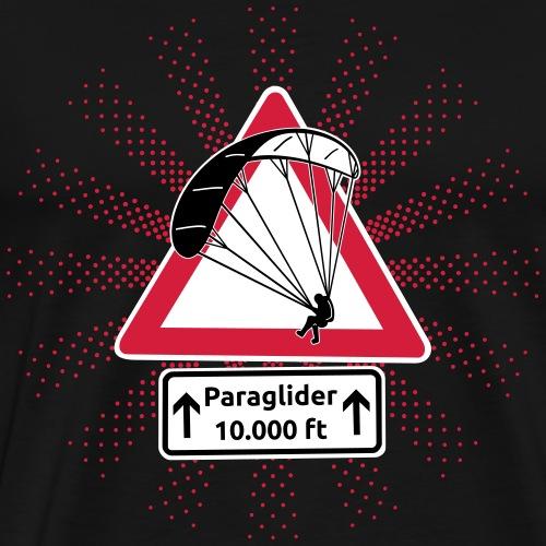 Achtung Paraglider - Männer Premium T-Shirt