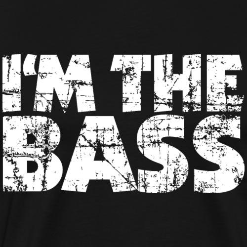 I'm the Bass (Vintage/Weiß) - Männer Premium T-Shirt