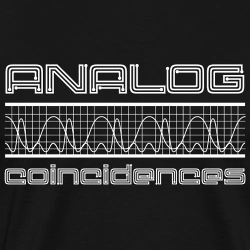 Logo Analog Coincidences - Mannen Premium T-shirt