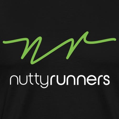 Nutty Runners - Green and white Logo - Men's Premium T-Shirt