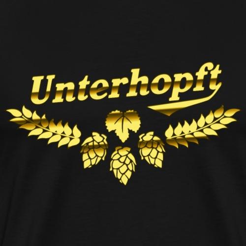 Unterhopft Gold das Original Bier Sprüche Design - Männer Premium T-Shirt