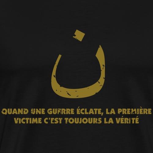 noun das erste Opfer des Krieges ist die Wahrheit - Männer Premium T-Shirt