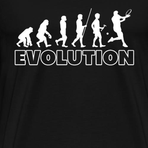 Tennis Evolution Sports Ball Racquet Team Club - Männer Premium T-Shirt