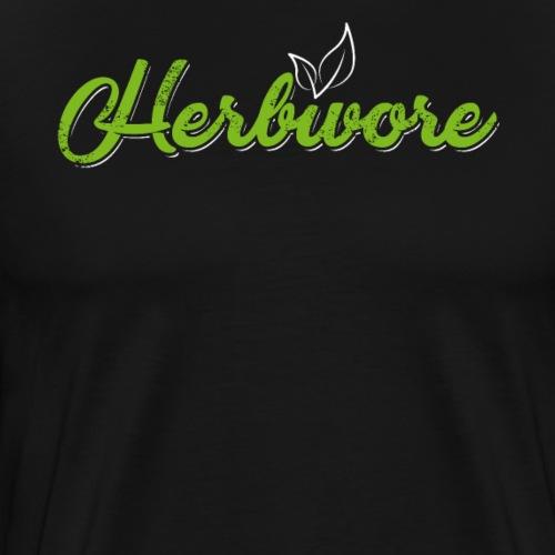 Herbivore Pflanzenfresser Vegetarian Vegan - Männer Premium T-Shirt