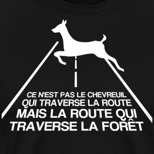 Chevreuil blanc - T-shirt Premium Homme