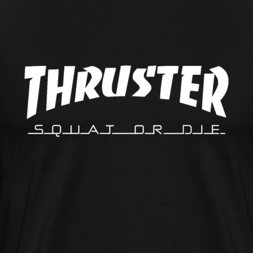 Thruster Fitness Squat - Männer Premium T-Shirt