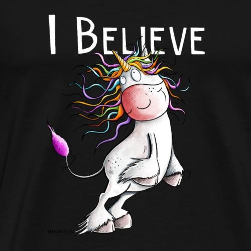 Ich Glaube An Einhörner I Einhorn Comic Sprüche - Männer Premium T-Shirt