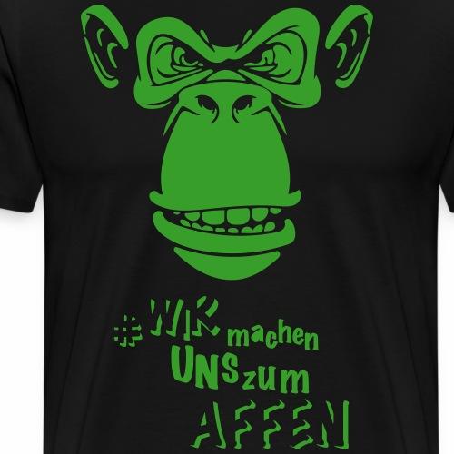 Angry Monkey - Männer Premium T-Shirt