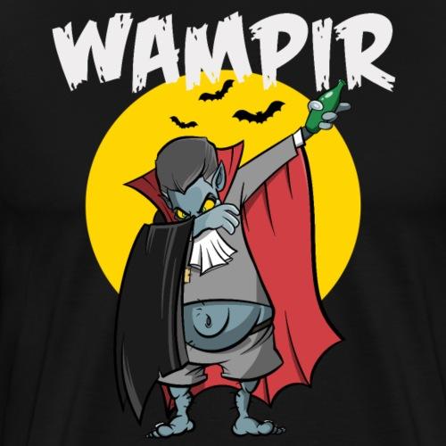 Wampir - lustiges Vampir Bierbauch Fun T-Shirt - Männer Premium T-Shirt