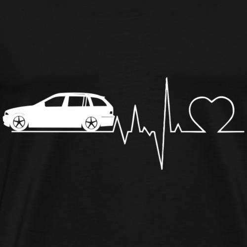 Herzschlag E46 Touring Geschenk - Männer Premium T-Shirt