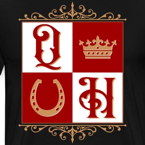 Quater Horse Ornament Pferd Royal König Geschenk - Männer Premium T-Shirt