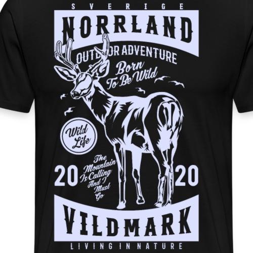 Norrland Vildmark 2020 Light - Premium-T-shirt herr