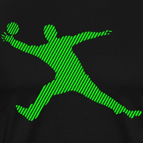 Handballtorwart Streifen - Männer Premium T-Shirt