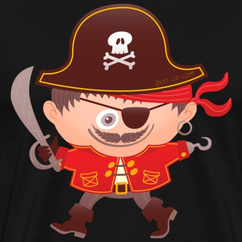 Brave boy wearing a Halloween pirate costume - Men's Premium T-Shirt