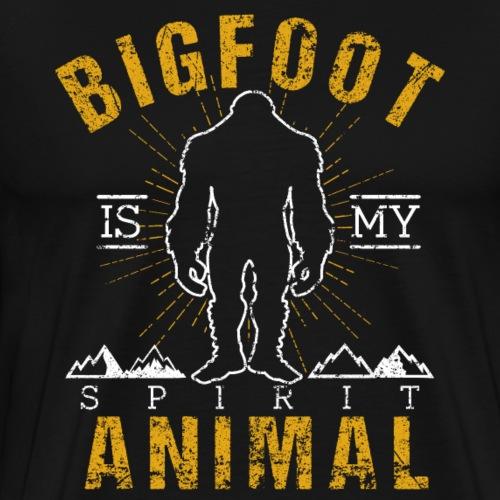 Bigfoot Is My Spirit Animal Retro Style Sasquatch - Männer Premium T-Shirt